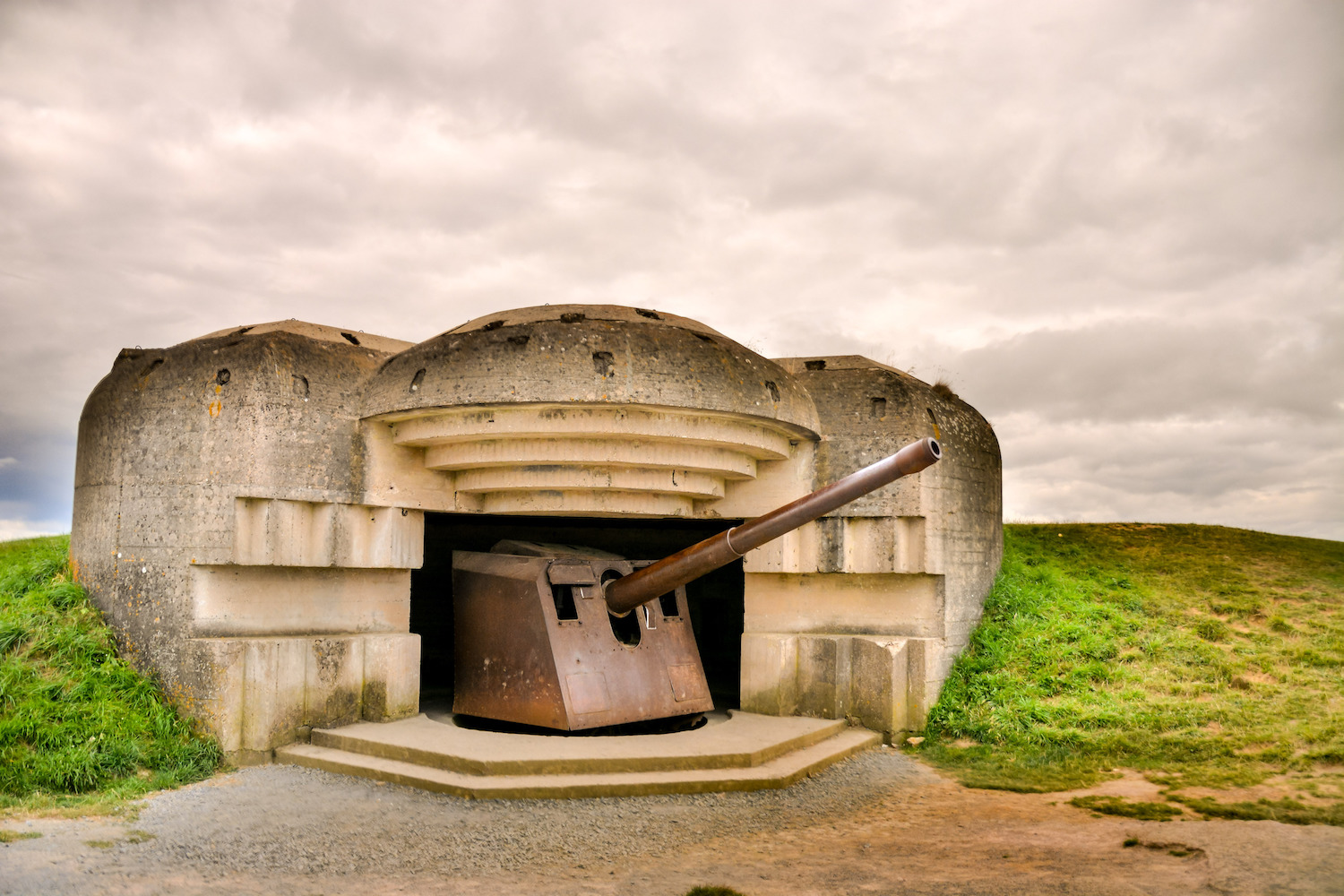 German bunker on the French coast in Normandy