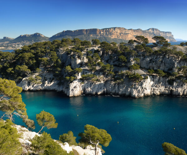 The calanque in Cassis on the Mediterranean