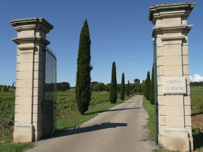 Chateau La Nerthe and vineyards