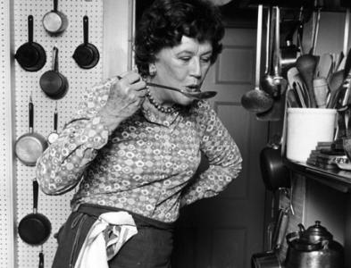Julia Child tasting her cuisine