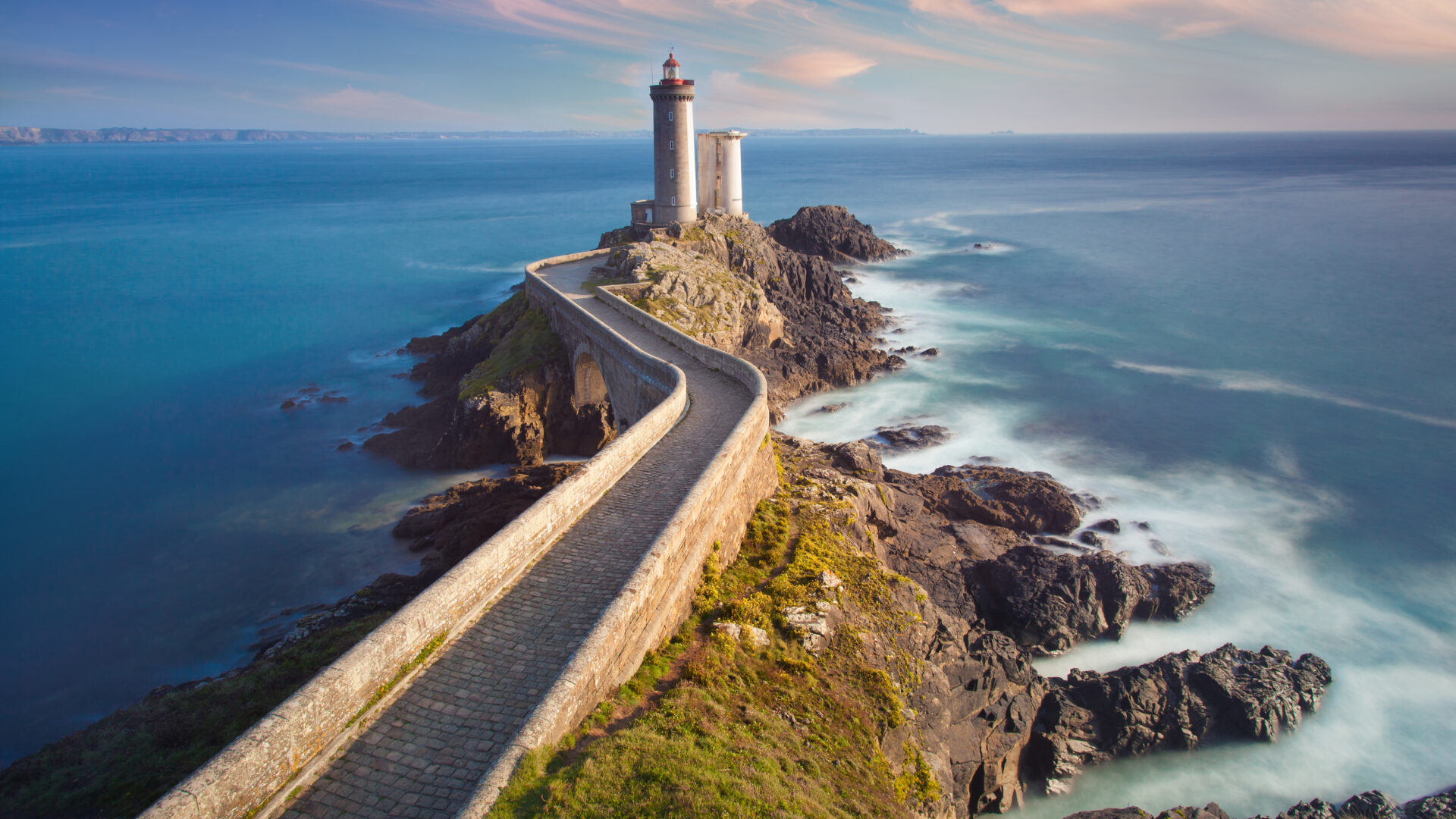 View of a lighthouse near Brest in Brittany