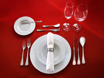 A place setting representing our table etiquette class