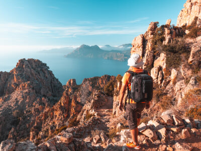Hiking in the Corsica mountains with breathtaking views all around