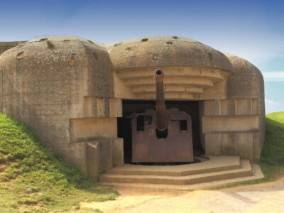 German bunker on the French coast of Normandy