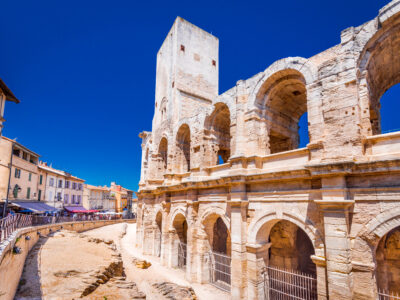 Roman amphitheater in Arles, south of France