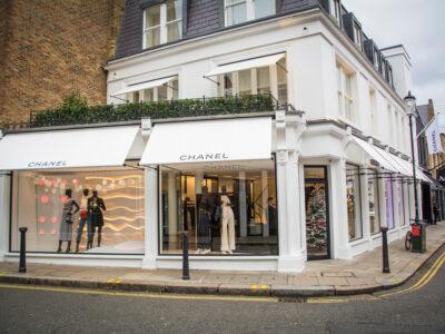 Channel store in Nottinghill in London