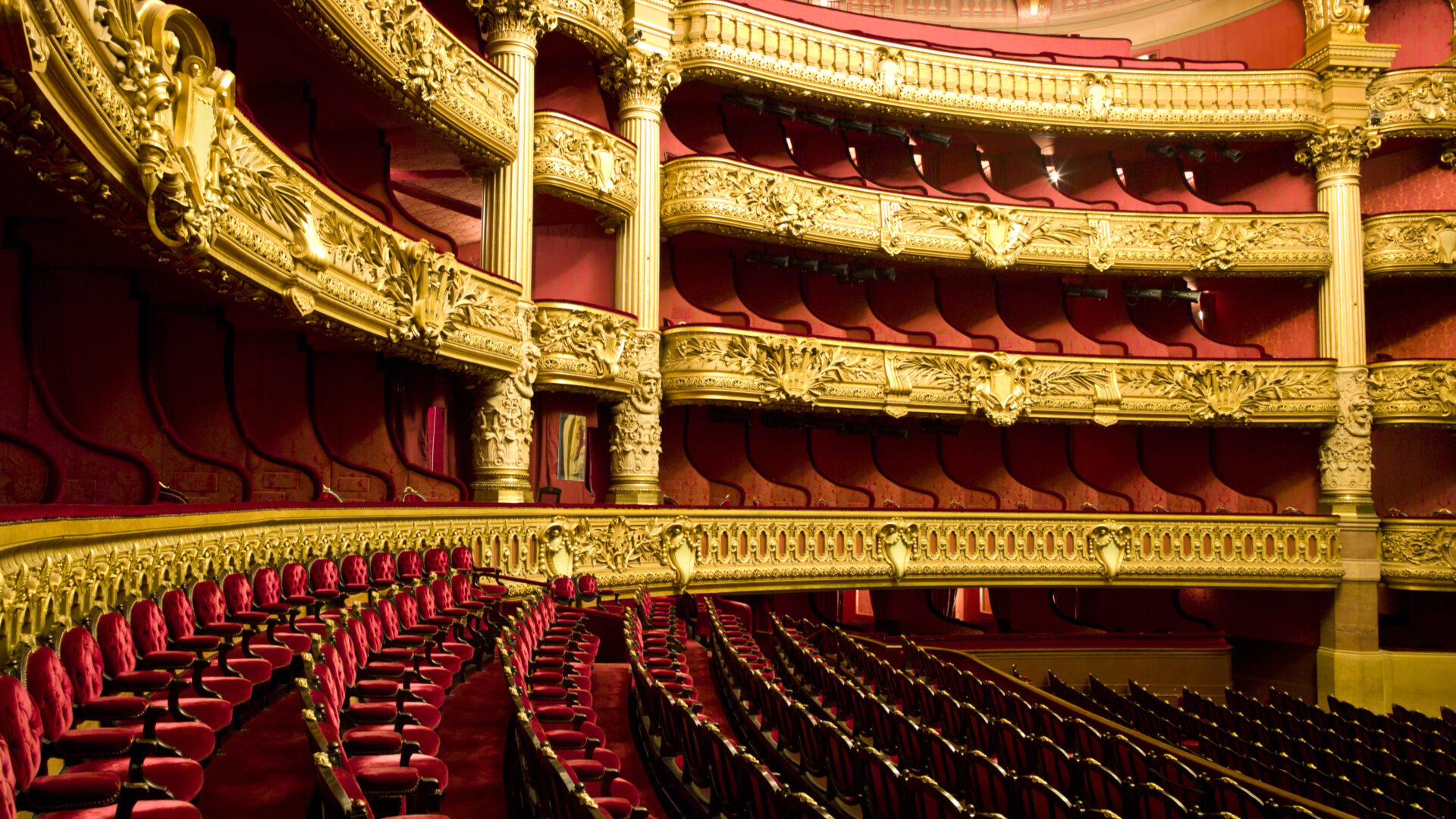 The inside of the Opera Garnier in Paris