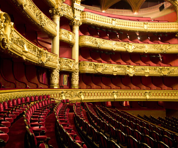 The inside of the Opera Garnier in Paris