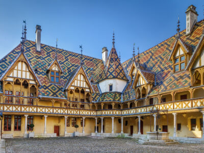 The hospices de Beaune in Burgundy and its world famous roof