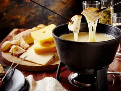Swiss cheese fondue