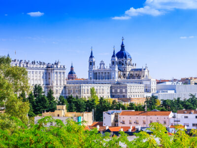 La Almudena Cathedral and Royal Palace in Madrid