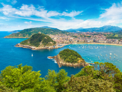 The Bay of San Sebastian in the Spanish Basque Country