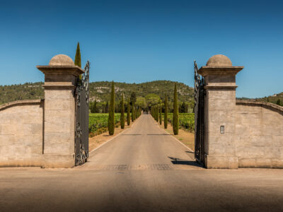 entrance to private wine domaine