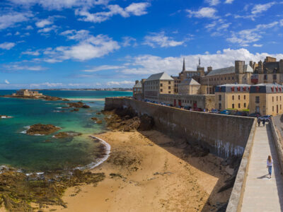 View of Saint Malo perched on the Atlantic
